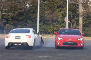 Video: Pair of Toyota GT86 Coupes Drifting in Sync