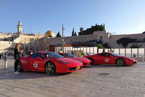 Ferrari Angers Worshipers At The Western Wall With Anniversary Parade