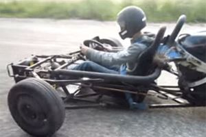 Illegally Hitting the Open Road with a 1,000 CC Hayabusa GSXR Go Kart