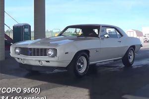 Ultra Rare! 1969 COPO Camaro ZL1 hits the 1/4  Mile Drag Strip!