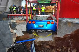 First Sinkhole Corvette Rescued with Minor Damage