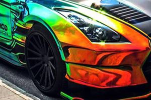 Does The Crazy Rainbow Wrap Make This Car Look Ugly?