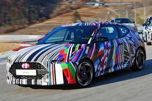 Hyundai Shows Rainbow Camouflaged Next-Gen Veloster