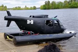 This Guy Turned A Vietnam Era Helicopter Into An Amphibious Car
