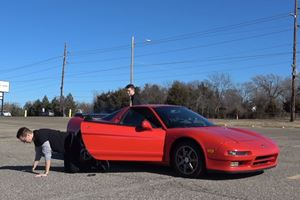 This Teenager Learns To Drive Stick In An Original Acura NSX