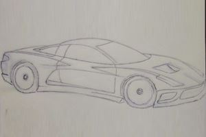 Who's The Mystery Artist Of This Spy Photo-Based C8 Corvette Sketch?