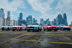 Porsche Macans Dressed Up To Look Like Race Cars In Singapore