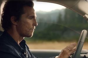 Matthew McConaughey Shows Off Bongo Skills In A Lincoln Navigator