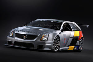 Rendering of Cadillac CTS-V Sport Wagon Racer