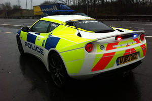 New Police Sports Car in UK - Lotus Evora