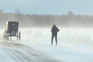 This Guy Spent Christmas Skiing Behind An Amish Horse And Buggy
