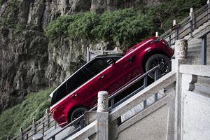 Watch A Range Rover Sport Climb 999 Steps At An Insane 45-Degree Angle