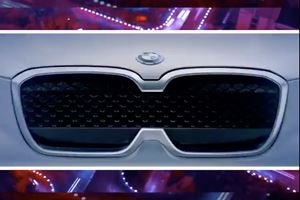 Check Out The BMW Concept iX3's New Rat-Toothed Grille