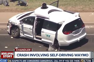One Of Waymo's Self-Driving Chrysler Pacificas Crashed In Arizona