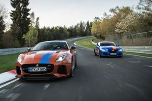Two Supercharged V8 Jaguar Models Will Take You Around The Green Hell