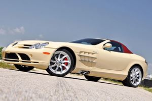 This Is The Only Ivory White Mercedes SLR Roadster In The World