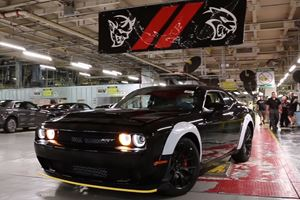 Watch The Last Dodge Challenger SRT Demon Roll Off The Assembly Line