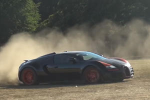 Watch A Bugatti Veyron Grand Sport Vitesse Lay Donuts On A Rally Course