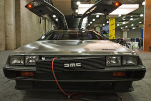 Delorean Shows Off at New York With Electric Car