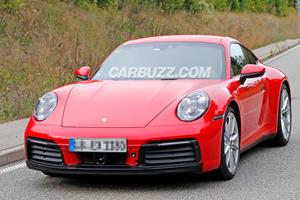 2019 Porsche 911 Caught Practically Naked Yet Again