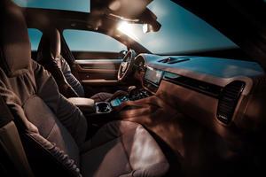 TechArt's Porsche Cayenne Has A Cozy Cabin Designed By A Couch Maker