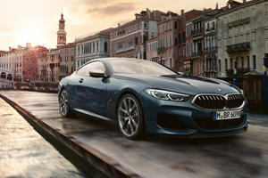 BMW 8 Series Coupe Drives Down Venice Canal