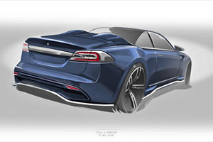 Italian Coachbuilder Builds World's First Tesla Model S Roadster