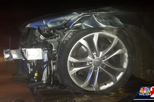 Car Mechanic Totals Audi S4 During Test Drive