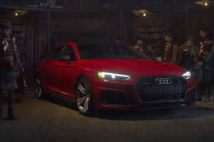 Santa Swaps His Sleigh For An Audi RS5 Sportback