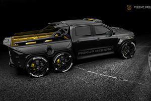 Six-Wheel Racing Pickup Is One Monstrous Creation