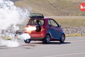Insane 2,000-HP Jet-Powered Smart Car Is Street Legal