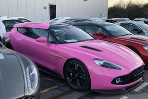 Aston Martin Vanquish Zagato Shooting Brake Killed With Pink