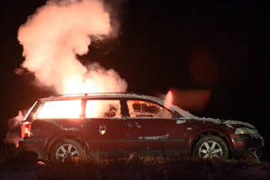 Igniting Fireworks Packed Into A Car Is A New Year's Blast