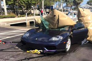 Guy Drives Ferrari 360 Into The Water Because It's Florida