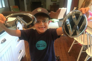 Awesome Kid Collects Badges From Every Car Company