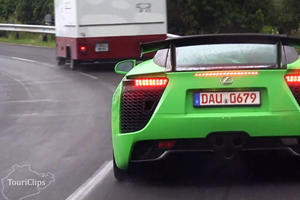 The Mystery Continues - Green Lexus LFA Spotted Around the Nurburgring