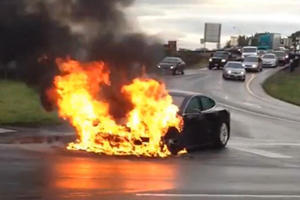 Tesla Driver Dies In Horrible Crash And Battery Won't Stop Burning
