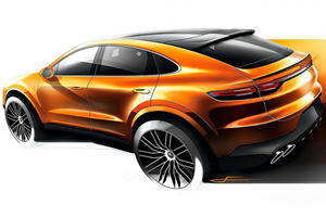 Porsche Cayenne Coupe Sketch Leaked Ahead Of Launch