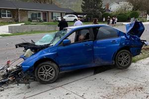 Subaru WRX Loses Engine And Transmission In Brutal Crash