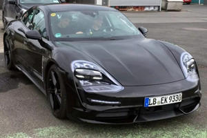 Porsche Taycan Spotted With Production Headlights