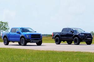Hennessey VelociRaptor Ranger Beats Ford F-150 Raptor