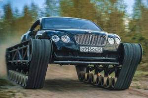 Crazy Russians Turn Bentley Continental GT Into A Freakin' Tank