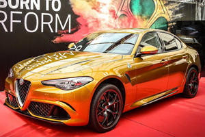 Gold Alfa Romeo Giulia Quadrifoglio Is A Stunning One-Off