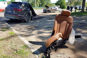 Audi Q7 Splits In Half In Horrifying Accident
