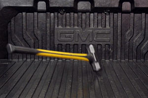 Watch GMC Sierra's Carbon Fiber Bed Get Smashed With A Sledgehammer