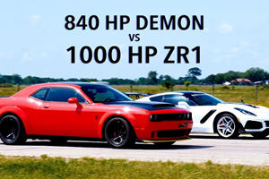 840-HP Dodge Demon Vs. 1000-HP Hennessey Corvette ZR1