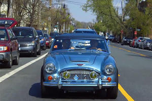 Ricky Gervais Joins Jerry Seinfeld for Coffee in an Austin-Healey