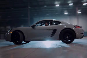 See Two Porsche Drivers Teach Us How To Drift In A Warehouse