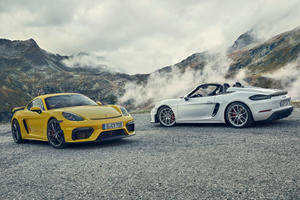 Say Hello To The 414-HP Porsche Cayman GT4 And 718 Spyder