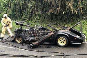 Bankrupt Billionaire's Lamborghini Countach Mysteriously Destroyed